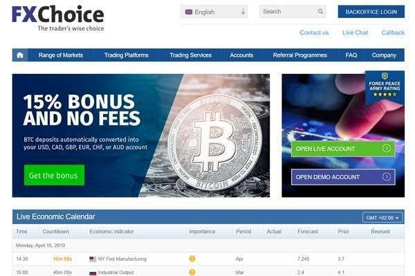 FX Choice - брокер, торговля криптовалютой, отзывы